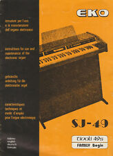 More details for instructions for use & maintenance of the electronic organ - eko sj - 49 undated