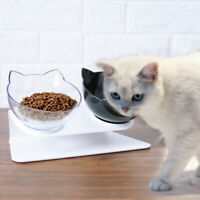 Cat Double Bowls with Raised Stand Pet Food Water Bowl Dog Feeder Pets Supplies