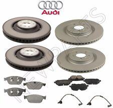 Audi SQ5 14-17 Front & Rear Vented Disc Brake Rotors Pads & Sensors Kit Genuine