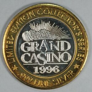 1996 Grand Casino $10 Gaming Token, .999 fine silver, limited edition