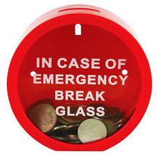 Emergency Money Box In Case Of Emergency Break Glass Novelty Savings Coin Bank