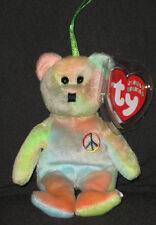 Ty Peace the Bear Jingle Beanie Baby - Mint with Mint Tag