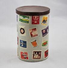 Blechdose / Kaffeedose Motiv Briefmarken (Dose aus Metall) tin can stamps