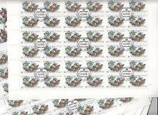 CCCP URSS 32 feuilles Faune Canards sauvages et oie annas crecca 15k  1989