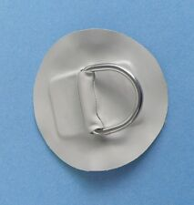 """D-ring  Pad / Patch Inflatable boat-Small-Lt. Gray PVC 3 3/4"""""""