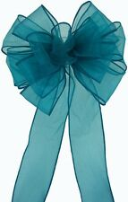 Pew Bows Teal Sheer - Set of 4 Bows - Wedding Decoration