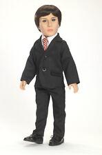 "Black Suit, Shirt & Tie for Carpatina 18"" Boy Dolls Stephan, Adam & Carter, NEW"