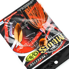 JACKALL Medis Tungsten Spinnerbait Colorado Willow Blade 3/8oz BLACK BACK ORANGE