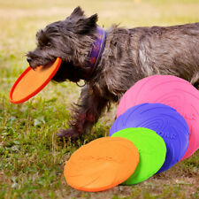 New listing Silicone Flying Saucer Dog Cat Toy Game Flying Discs Resistant Chew Pu S�