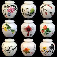 Matcha Tea Caddy White Ru Porcelain Tea Canister TP006