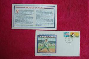 History in Stamps Babe Ruth Hits 60th HR Event Cover Fleetwood Sc#1381 13933