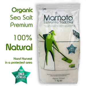 Organic Sea Salt Hand Collected MARNOTO 100% Natural Premium Food Grade Bio 1kg