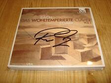 Signed Signiert RICHARD EGARR Bach Well Tempered Clavier I HARMONIA MUNDI 2 CD