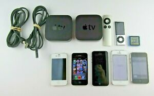 Mixed Lot of 9 Apple Products For Parts or Repair iPhone iPod Apple TV