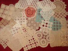 Antique&Vintage Handmade  Lot Of 25 pcs Crochet Lace Doilies