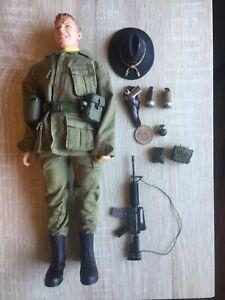 "CUSTOM WWII US VIETNAM HELICOPTER PILOT 12"" FIGURE DRAGON ELITE FORCE 1/6 SCALE"