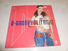 "D-GROOVY - Do it right - 2001 Dutch 4-track 12"" Vinyl Single (DJ Promo)"