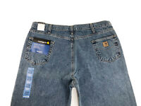 NEW Carhartt Men's Straight Leg Relaxed Fit Jean B460 DPS Size 44x32 NWT