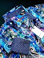 Robert Graham Paisley Floral Print COLORFUL Sport Shirt