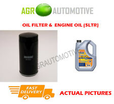 PETROL OIL FILTER + LL 5W30 ENGINE OIL FOR AUDI A4 1.8 163 BHP 2004-08