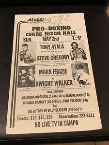 Rare 1982 Tony Ayala Jr.-Steve Gregory Onsite Boxing Handbill / Program Sheet