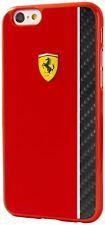 Genuine Ferrari Scuderia Hard Case for iPhone 6 Plus & 6s Plus Carbon Stripe