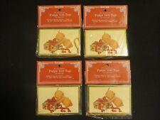 """Vintage Shackman """"Pudgie"""" (Kewpie) Gift Tags/Gold Cords 1986 Nip"""