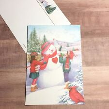 1pc. CHRISTMAS CARD~Blessed are they who see Christmas~🎄 Snowman