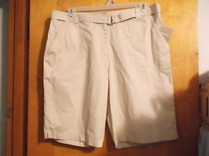 """BRAND NEW  LADY'S """"WHITE STAG FRUIT KHIKI COLOR 4 POCKET SHORTS with CLOTH BELT"""