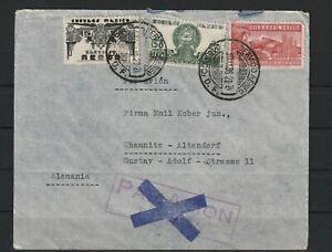 Mexiko Brief nach Chemnitz-Altendorf, Zensur 1936