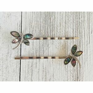 Women's Natural Shell Abalone Dragonfly Bobby Pin Hair Accessories