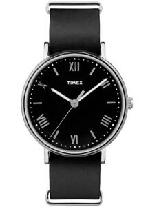 Timex Men's Southview 41mm Genuine Leather Strap Stainless Steel Watch TW2R28600