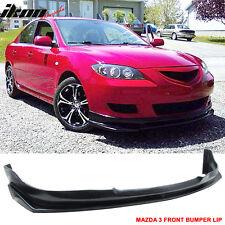 04-06 Mazda 3 Type I Front Bumper Lip Unpainted - PU Urethane