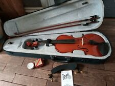 Primavera Full Size 4/4 Violin With Case P&h London Bow, Chin Rest wolf shoulder