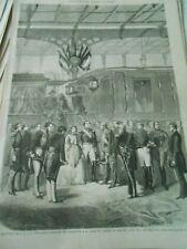 Gravure 1868 - La Princesse Clotilde de Sardaigne gare chemin de fer de Lyon