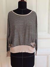 TOP * Blogger boho gestreift oversized Pullover NICOLE FOR F.R London M L NEU