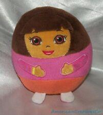 """2013 Ty Beanie Ballz Plush Round 5"""" Small Dora The Explorer Soft Ball Sewn Eyes"""