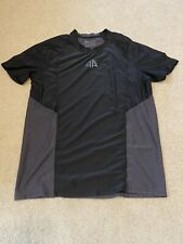 Men Alpha Prime Black Gray Icon Workout Shirt Medium Gym Weightlifting