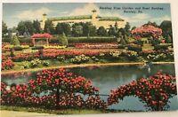 Vintage Linen Postcard Municipal Rose Garden Another Beauty Spot in Harrisburg Pennsylvania 1938