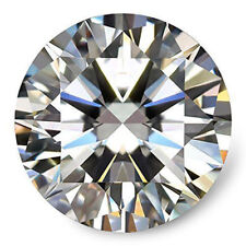 EGL Certified 1.80 Carat Round Natural White Moissanite Diamond Gemstone EH-698