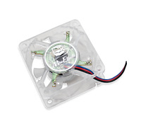 Clear RAINBOW LED Fan Kit for Apple Macintosh Mac SE & SE/30 - Twice the CFM!