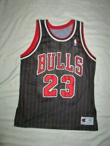 23 Bulls Jordan basketball jersey shirt top Mens sz M medium champion black NBA