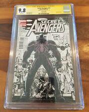 Secret Avengers 23B 2nd Print Variant Venom Sketch, 9.8 CGC WP, SS Adams-Only 8!