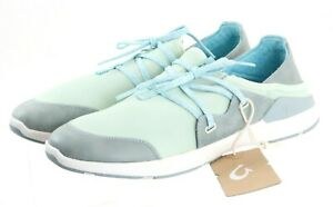 Olukai Miki Li NWOB Women's Sneakers Shoes Size 9 Canvas Moss Green Blue