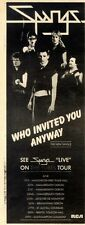 20/6/81PN36 THE SPANGS : WHO INVITED YOU ANYWAY SINGLE ADVERT 15X5