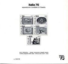 1976 - FOGLIETTO PUBBLICITARIO  esposizione mondiale Italia 76 nuovo
