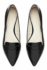 Women's Solid Patent Leather Flats