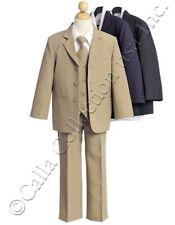 5 pc. Boys Suit Jacket Pants Shirt Vest Tie Formal Weddings Church Party  Size 6