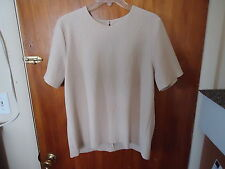 "Womens Susan G."" Simply Susan "" Size L Beige Short Sleeve Top "" BEAUTIFUL TOP """