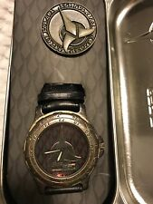 1996 Fossil Star Trek Next Generation Limited Edition Klingon Watch and Pin